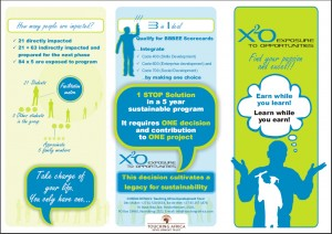 X2O flyer 300x212 Social Ventures: Co operative education and learning with X2O (Leer en Werkservaringe)